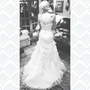 Me in Sherri's old extra wedding dress! Sorry for the quality of this photo. :(